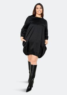 Buxom Couture Bubbled Poplin Mini Dress - 1X - Also in: 3X