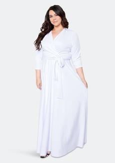 Buxom Couture Everyday Surplice Scuba Maxi Dress - 3X - Also in: 1X, 2X