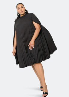 Buxom Couture Pleated Cape Dress - 2X - Also in: 3X