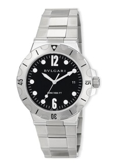 Bvlgari 41mm Diagono Scuba Stainless Steel Watch