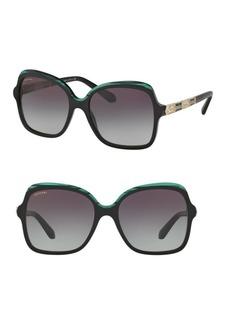 Bvlgari 56MM Square Sunglasses