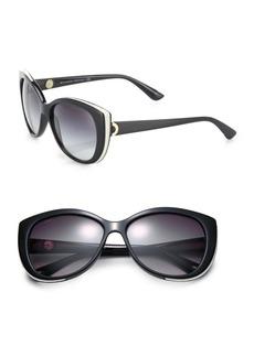 Bvlgari 57MM Nylon Cat's-Eye Sunglasses