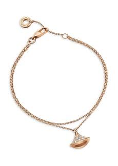 Bvlgari Divina 18K Yellow Gold & Diamond Pendant Bracelet