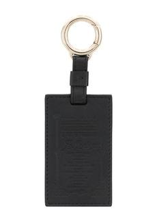 Bvlgari logo embossed keychain