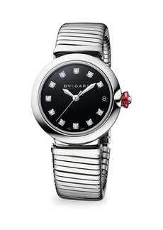 Bvlgari LVCEA Stainless Steel & Diamond Bracelet Watch