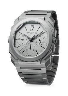 Bvlgari Octo Finissimo Extra-Thin Grey Ceramic & Titanium Bracelet Chronograph Watch