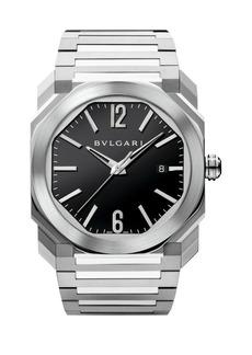 Bvlgari Octo Stainless Steel Bracelet Watch