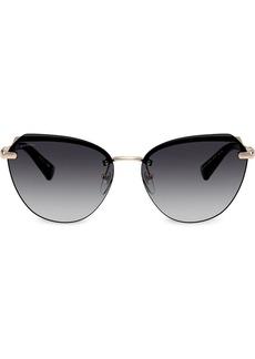 Bvlgari oversized cat-eye tinted sunglasses