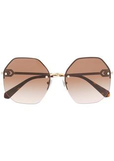 Bvlgari round crystal embellished sunglasses