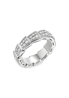 Bvlgari Serpenti Viper 18K White Gold & Diamond Ring