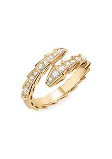 Bvlgari Serpenti Viper 18K Yellow Gold & Diamond Wrap Ring