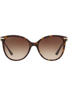 Bvlgari tortoiseshell oversized round frame sunglasses