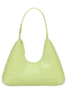 BY FAR Amber Croc Embossed Leather Bag