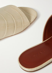 BY FAR Baba Croc-effect Leather Slides