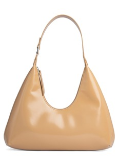 By Far Amber Semi Patent Leather Hobo Bag - Beige
