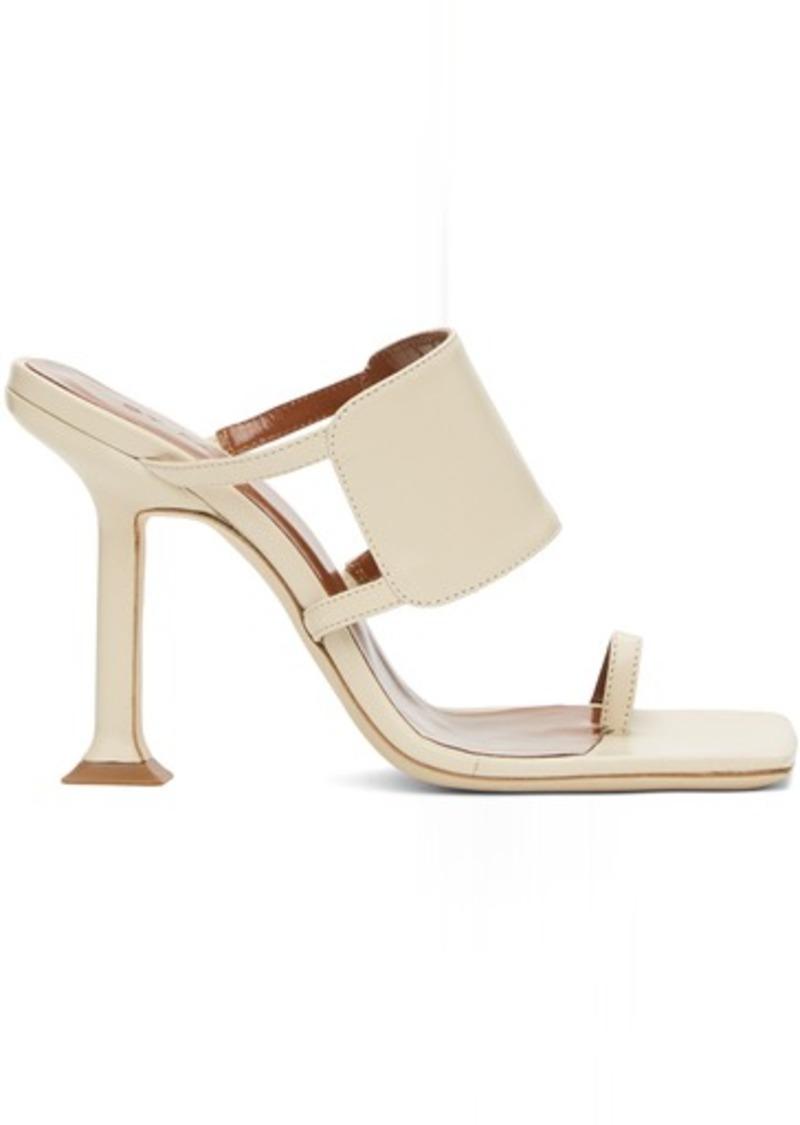 BY FAR Beige Gigi Heeled Sandals