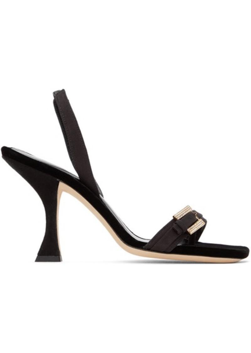 BY FAR Black Carlotta Sandals