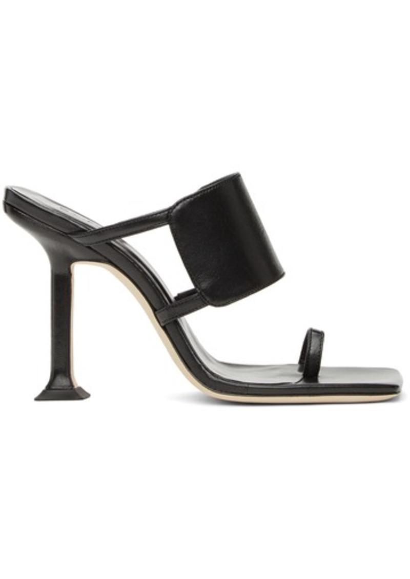 BY FAR Black Gigi Heeled Sandals