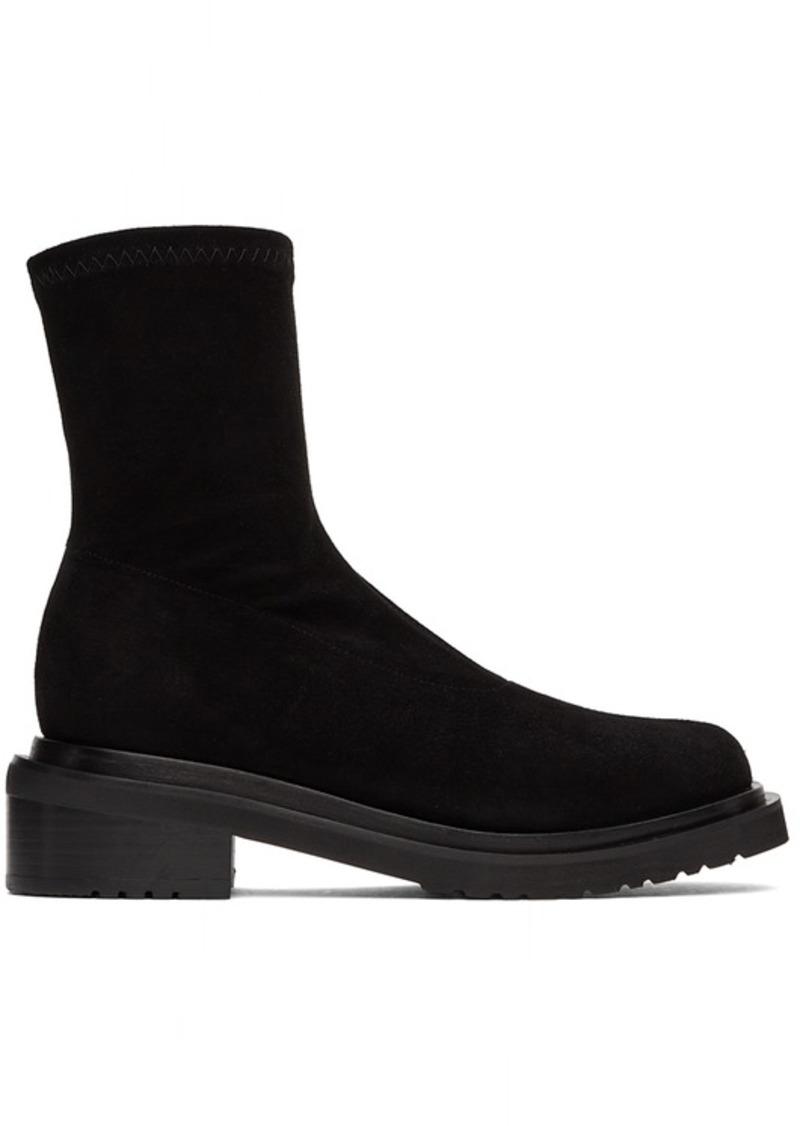 BY FAR Black Suede Kah Boots