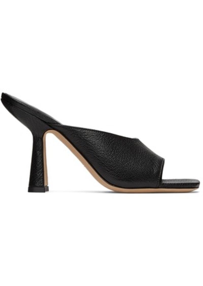 BY FAR Black Zaya Heeled Sandals