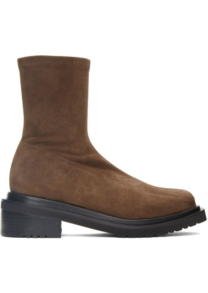 BY FAR Brown Suede Kah Boots