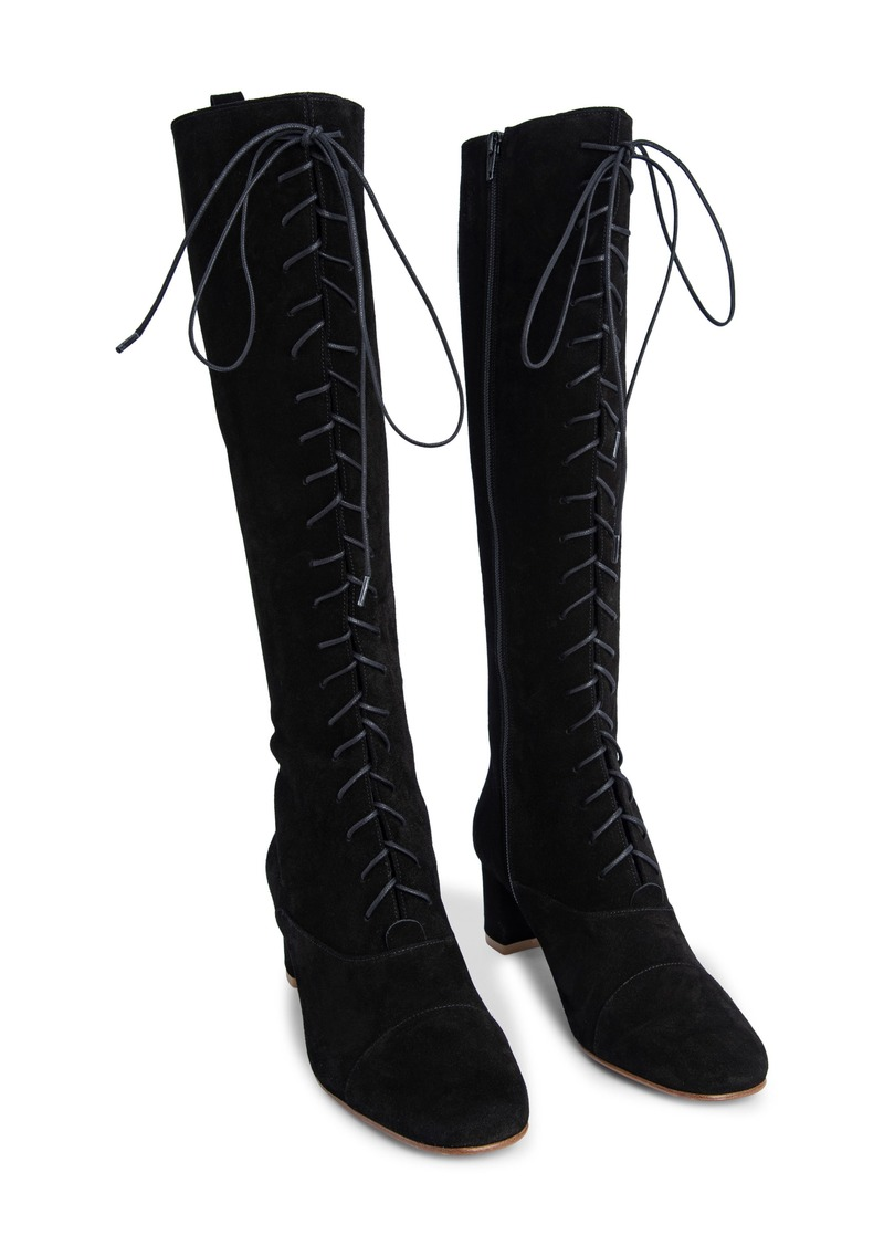 By Far Lada Lace-Up Tall Boot