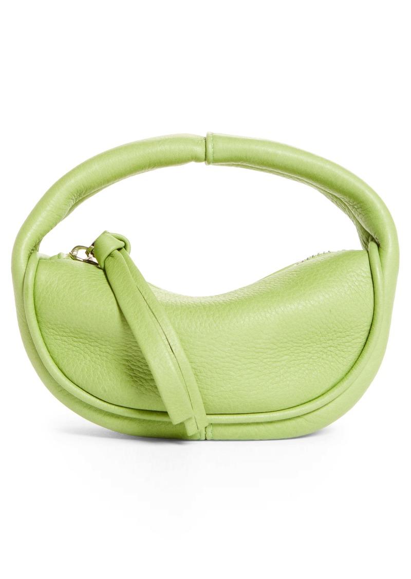 By Far Micro Cush Leather Top Handle Bag