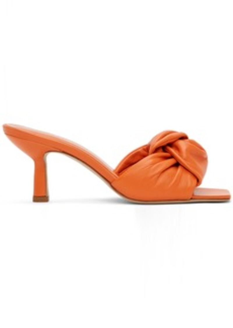 BY FAR Orange Lana Heeled Sandals