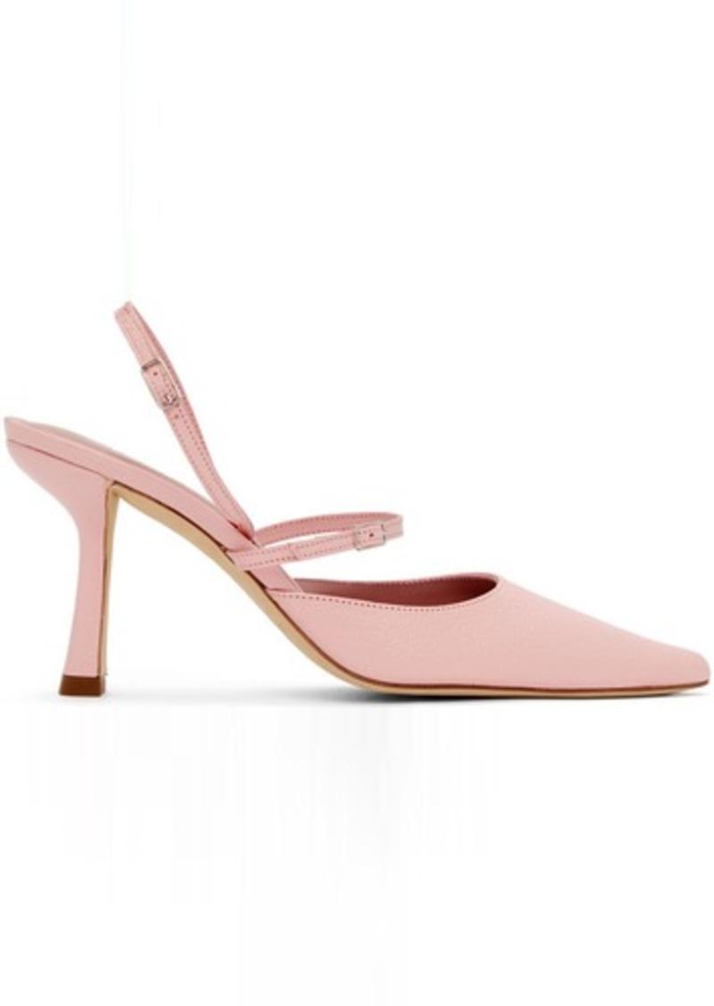 BY FAR Pink Nappa Tiffany Slingback Heels