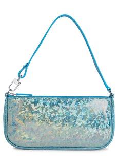 By Far Rachel Hologram Leather Shoulder Bag - Blue