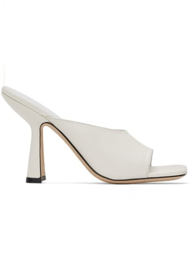 BY FAR White Zaya Heeled Sandals