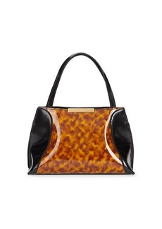 BY FAR Charlotte Faux Tortoiseshell Leather Tote