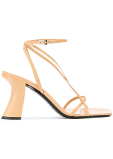 BY FAR curved heel sandals