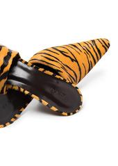 BY FAR Cynthia 65mm tiger-print mules