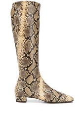 BY FAR Edie snakeskin print boots