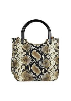 BY FAR Eric Snakeskin-Embossed Leather Crossbody Bag