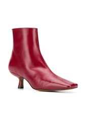 BY FAR leather 60mm ankle boots