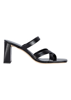 BY FAR Lenny Leather Slide Sandals