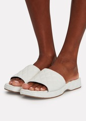 BY FAR Lilo Quilted Leather Slide Sandals