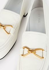 BY FAR Lino Leather Loafers
