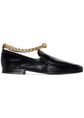 BY FAR Nick chain-anklet leather loafers
