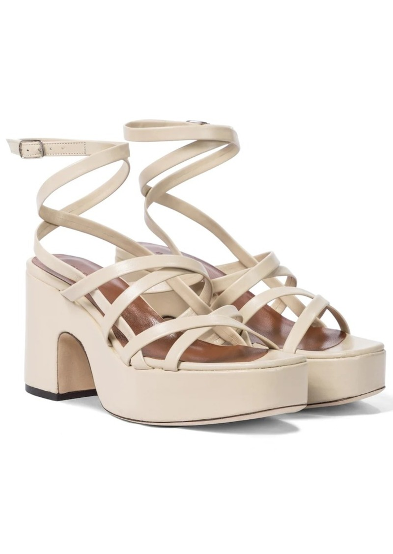 BY FAR Pamela leather platform sandals