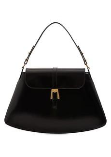 BY FAR Portia Semi Patent Leather Shoulder Bag