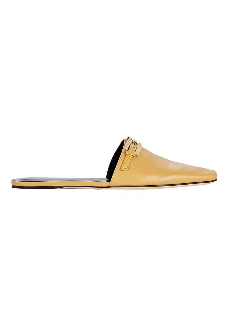 BY FAR Rado Belted Flat Leather Mules