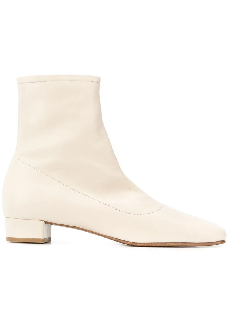 BY FAR square toe ankle boots