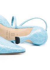 BY FAR Tiffany 80mm crocodile-effect pumps