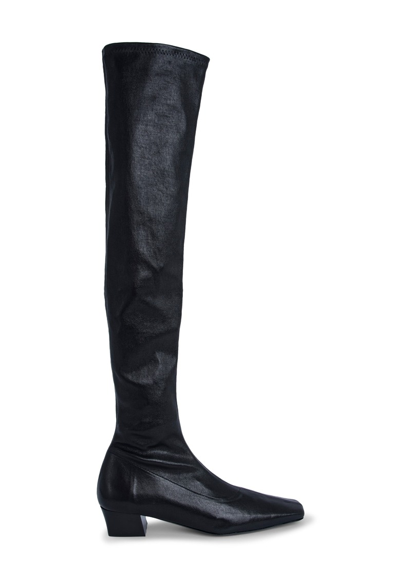 By Far Collette Block Heel Tall Boot