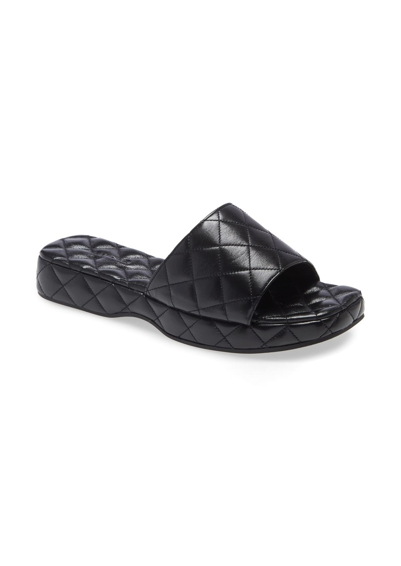 Women's By Far Lilo Quilted Leather Slide Sandal