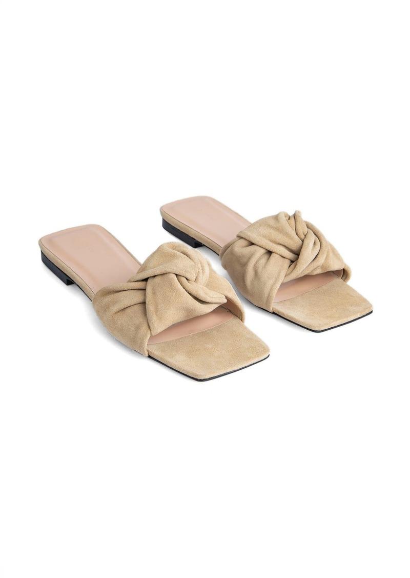Women's By Far Lima Knot Slide Sandal