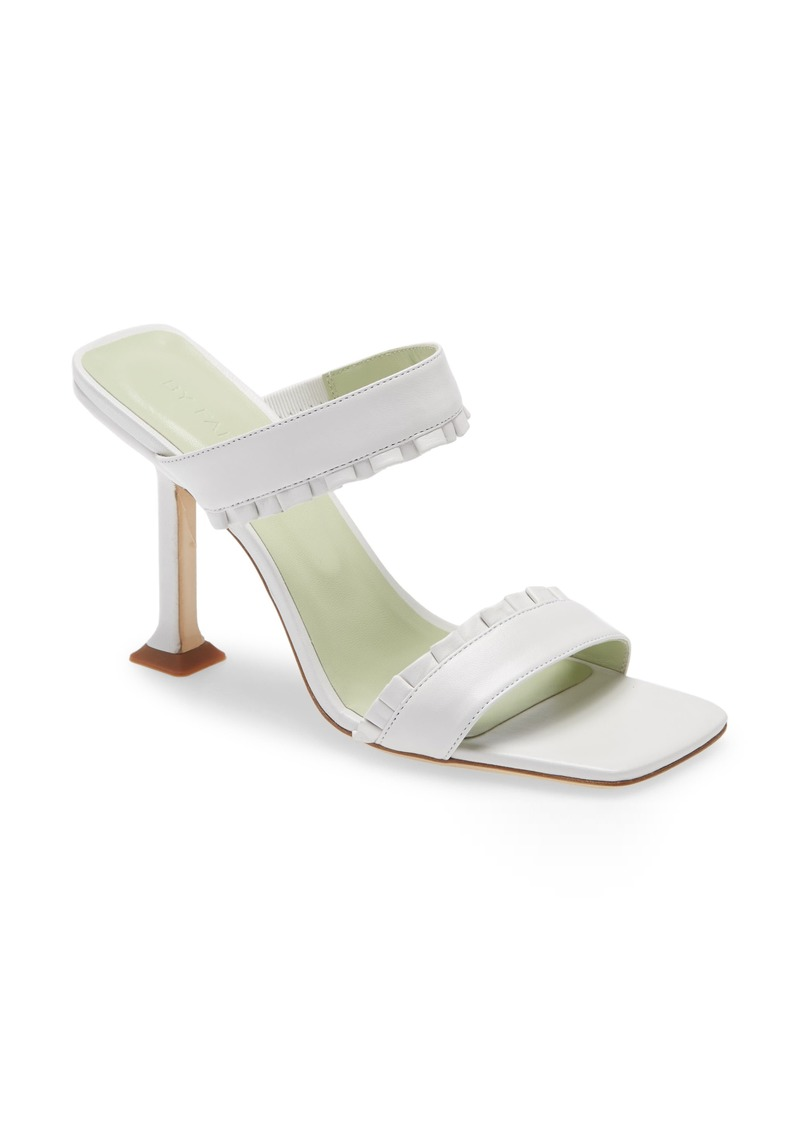 By Far Pina Leather Slide Sandal